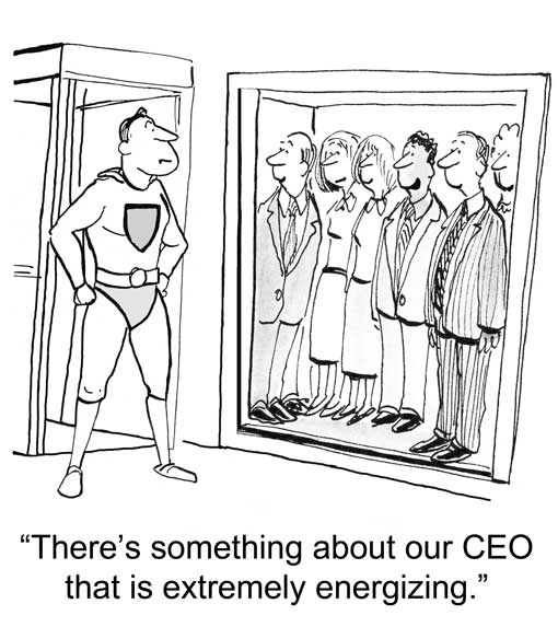 cartoon CEO appraisal process